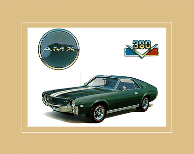 Chrysler Historical Prints 1968 AMX 390