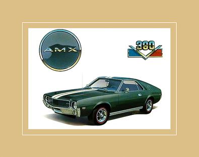 Chrysler Historical Prints 1968 AMX 390