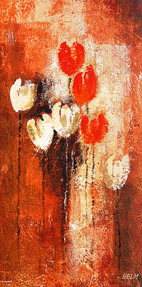 Anne Helm 2er Set 'Red and white Tulips I + II'