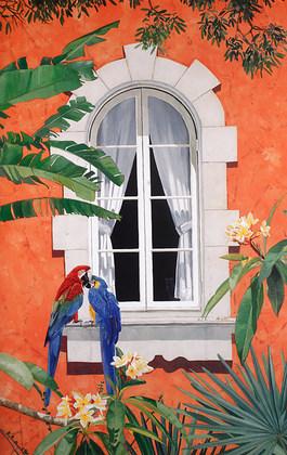 Jennifer Ardolino Parrots with a View I