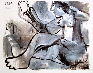 Pablo Picasso Akt im Spiegel
