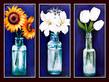 Bekannt nicht 3er set sonnenblumen lilien tulpen medium