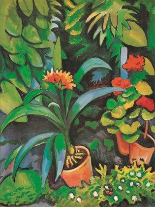August Macke Blumen im Garten