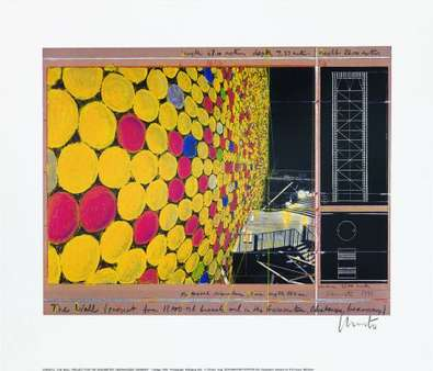 Christo The Wall Nr. IV 1999(signiert)