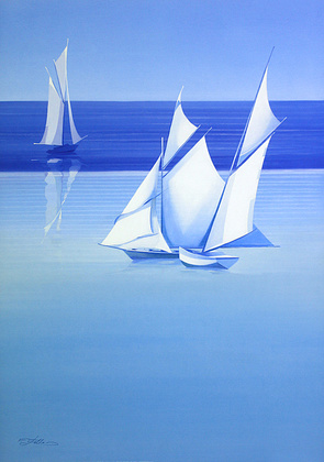 Frank Fellini 2er Set 'Under Full Sail' + 'With taut Sails'