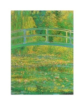 Claude Monet Seerosenteich mit Bruecke (gruen)