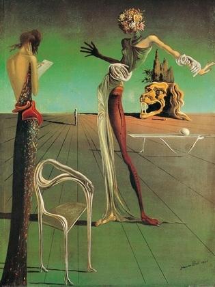 Salvador Dali Die Frau mit dem Rosenkopf