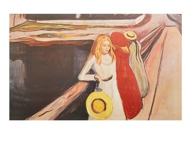 Edvard Munch Maedchen auf der Bruecke
