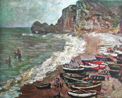Claude Monet Boote am Strand