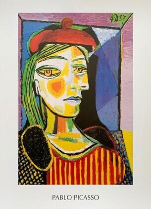 Pablo Picasso Femme au beret rouge