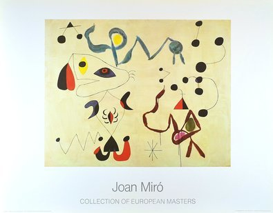 Joan Miro Femmes et Oiseaux dans la Nuit