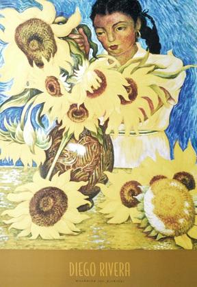 Diego Rivera Muchacha con Girasoles