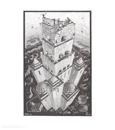 MC Escher Turm von Babel