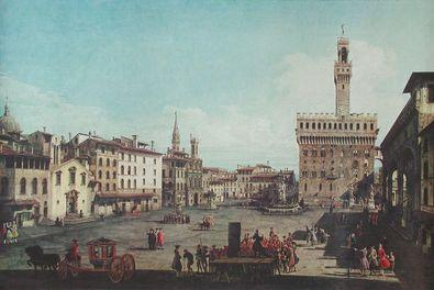 Bernardo Canaletto - Bellotto Florenz  Piazza della Signoria
