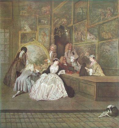 Antoine Watteau Ladenschild des Kunsthaendlers Gersaint (rechte H )