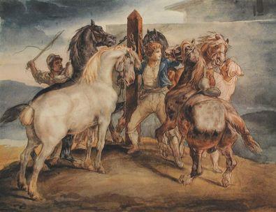 Theodore Gericault Pferdemarkt