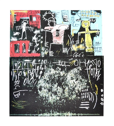 Jean-Michel Basquiat Untitled (Black Tar and Feathers)