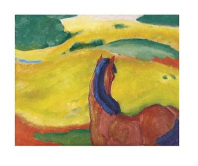 Franz Marc Pferd in der Landschaft