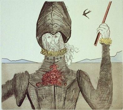 Salvador Dali Don Quichote ( Radierung )