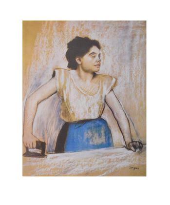 Edgar Degas Maedchen am Buegeleisen