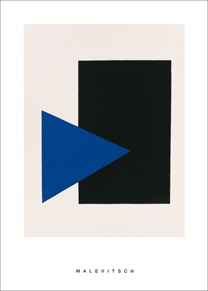 Kazimir Malevich Black rectangle, bleu triangle, 1915