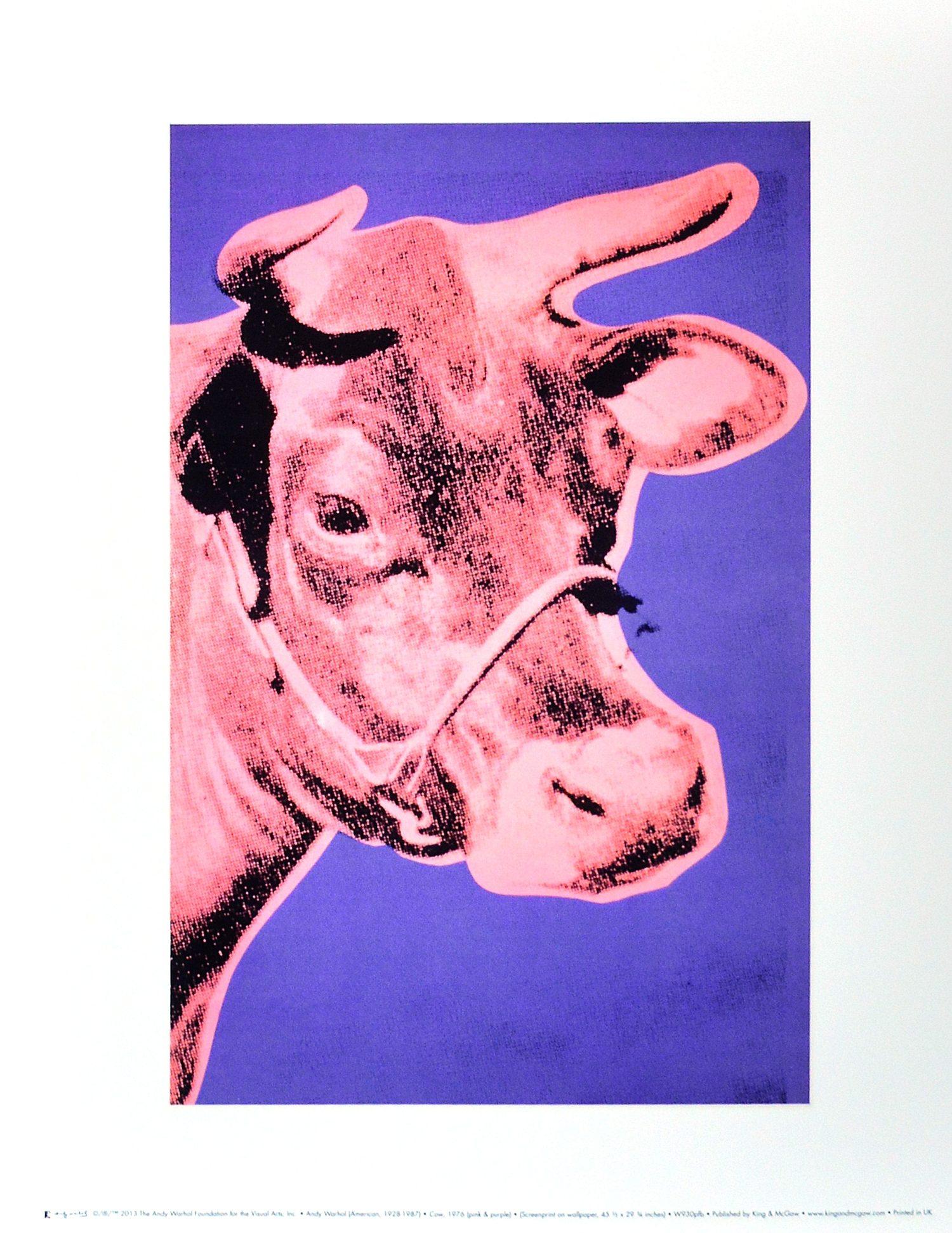 andy warhol cow 1976 pink purple poster kunstdruck bei. Black Bedroom Furniture Sets. Home Design Ideas
