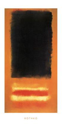 Mark Rothko Untitled  (schwarz orange)