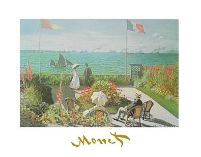 Claude Monet Terasse am Meer bei Saint-Adresse