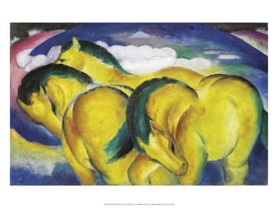 Franz Marc Die kleinen gelben Pferde