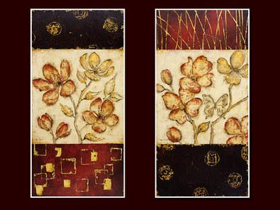 Regina Andrew 2er Set 'Abstract Blossom I + II'
