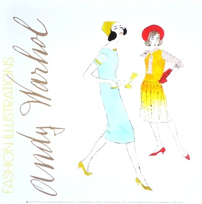 Andy Warhol Two female fashion figures