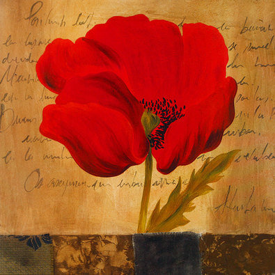 Nicht bekannt 2er Set Blumenblueten rot