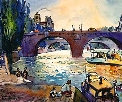 Michael Leu Evening by the Seine