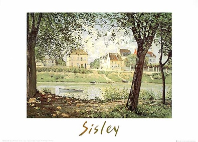 Alfred Sisley Village on the Banks of the Seine