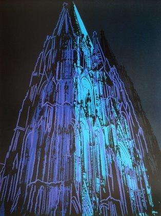 Andy Warhol Koelner Dom (schwarz)