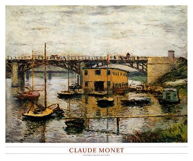 Claude Monet The Bridge at Argenteuil, Grey Weather