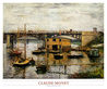 Monet claude the bridge at argenteuil grey weather medium