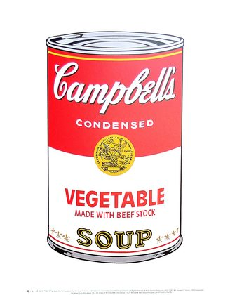 Andy Warhol Campbell's Soup I 1968 (vegetable)