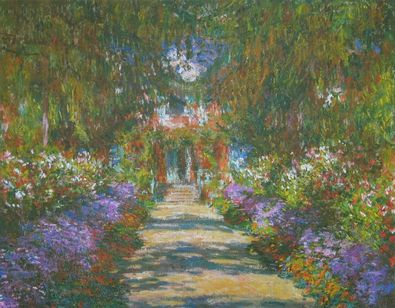 claude monet weg in monets garten in giverny 1902 poster kunstdruck bei. Black Bedroom Furniture Sets. Home Design Ideas