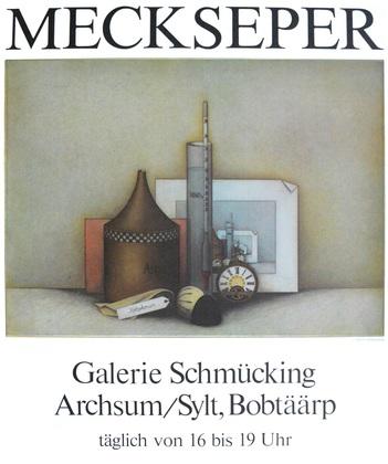 Friedrich Meckseper Stilleben mit Radierzubehoer