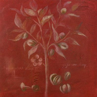 Nicht bekannt 3er Set Blumen und Planzen in rot