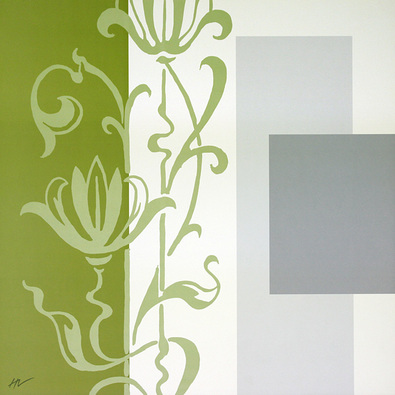 Hanna Vedder 2er Set 'Ornamentic in Green I + II'