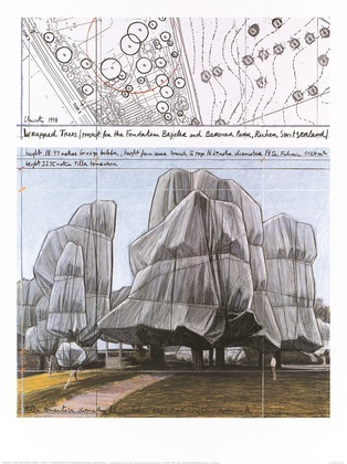 Christo Wrapped Trees Nr.III (Riehen)