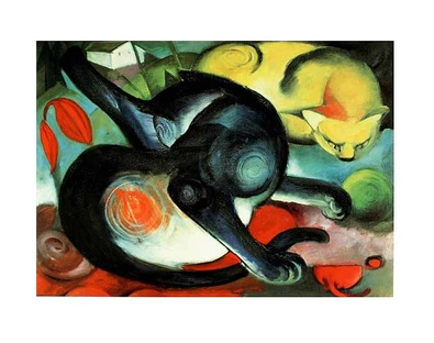 Franz Marc Two Cats