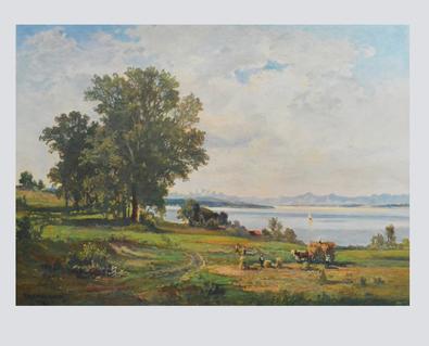 Fritz Halberg-Krauss Ernte am Starnberger See