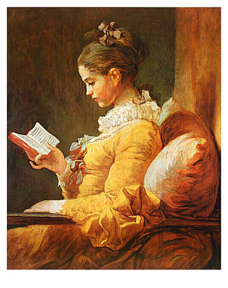 Jean-Honore Fragonard A Young Girl Reading, 1776