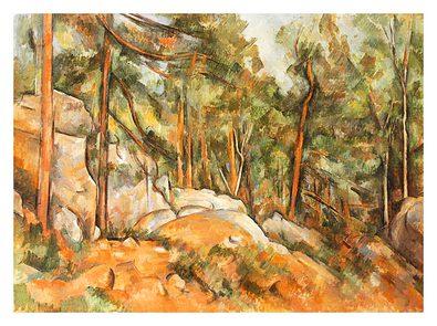 Paul Cezanne Felsen im Park von Chateau Noir