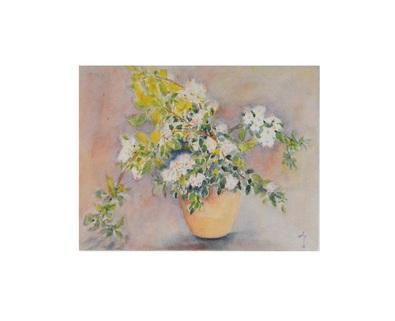 unbekannter Kuenster Bouquet aux fleurs de pommier