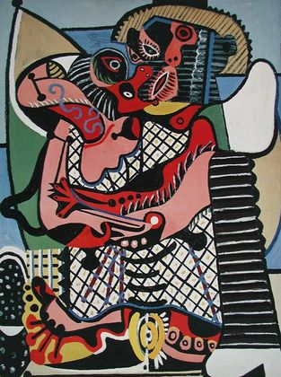 Pablo Picasso Die Umarmung (Der Kuss)