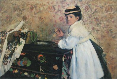 Degas edgar portrait von mademoiselle hortense valpincon large